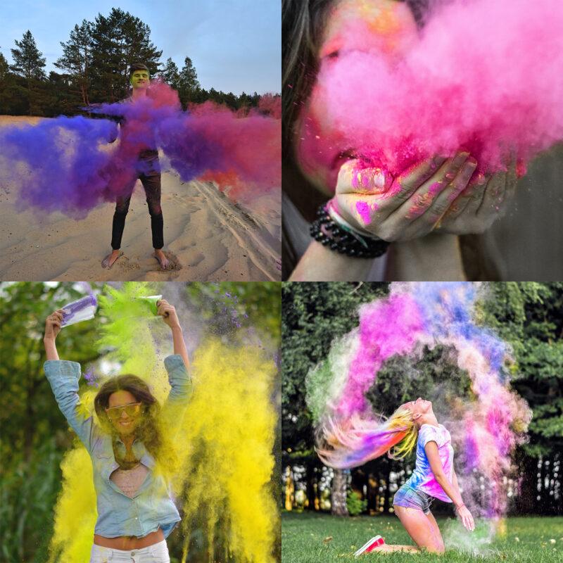 JOY Powders Colour Powder Photo shoot Colour Explosion