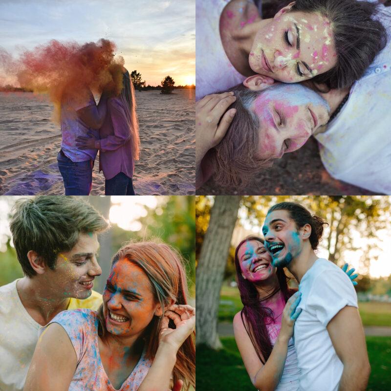 JOY Powders Colour Powder Photo shoot Couples