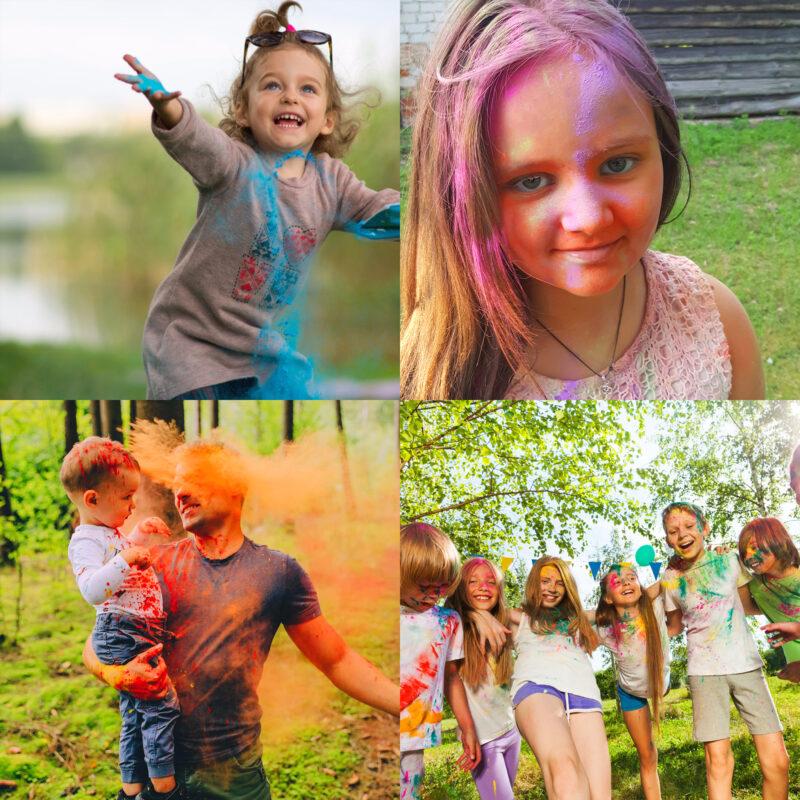 JOY Powders Colour Powder Photo shoot Kids_2