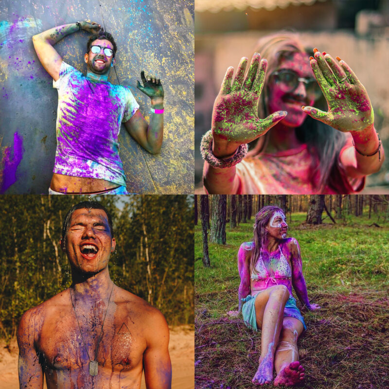 JOY Powders Colour Powder Photo shoot Personal